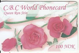 NORWAY - Flowers, Queen Ren Stin, C.B.C Prepaid Card 100 NOK, Used - Norway