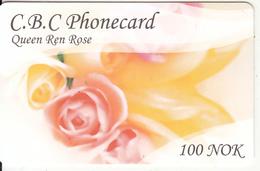 NORWAY - Flower, Queen Ren Rose, C.B.C Prepaid Card 100 NOK, Used - Norway