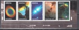 United States 2000 Hubble Space Telescope - Sc 3384-88 - Mi 3280-84 - Strip Of 5 - United States