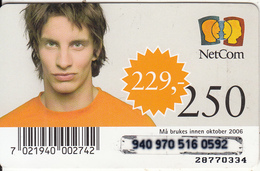 NORWAY - NetCom Prepaid Card 250 NOK, Exp.date 10/06, Used - Norway