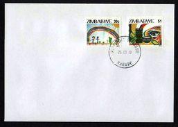 Zimbabwe 2013 MDGs FDC / First Day Cover / Ersttagsbrief (Simbabwe) - Zimbabwe (1980-...)