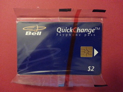 2 $ PAYPHONE PASS BLUE CANADA BELL QUICKCHANGE B20002 06/95 NSB MINT BLISTER - Canada