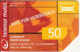 NORWAY - Telenor Prepaid Card 50 NOK, Used - Norway