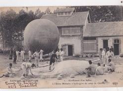 Carte Postale  : Gonflement D'un Ballon à L'usine  Militaire  ... Sapeurs Aérostiers Camp De Châlon (51)       Ed ELD - Equipment