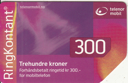 NORWAY - Telenor Prepaid Card 300 NOK, Used - Norway