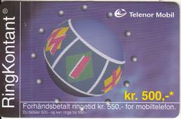 NORWAY - Telenor Prepaid Card 500 NOK, Used - Norway