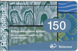 NORWAY - Telenor Prepaid Card 150 NOK, Used - Norway