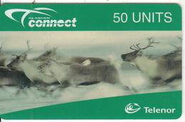 NORWAY - Reindeer, Telenor Prepaid Card 50 Units, Exp.date 02/99, Mint - Norway