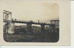 """AK """"reparierte Bahnbrücke"""" - Guerra 1914-18"""