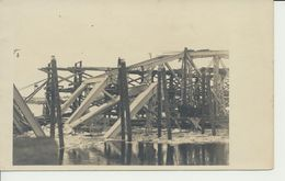 "AK ""zerstörte Bahnbrücke"" - Guerra 1914-18"