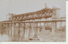 "AK ""zerstörte Bahnbrücke"" - Weltkrieg 1914-18"