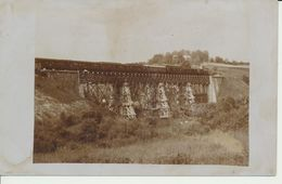 """AK """"wieder Hergestellte Bahnbrücke"""" Mit Zug - Guerre 1914-18"""