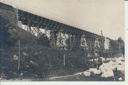 """AK """"wieder Hergestellte Bahnbrücke"""" - Weltkrieg 1914-18"""