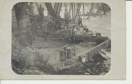 """AK """"Pioniere M. Gef. Russen B.d. Arbeit"""" - War 1914-18"""