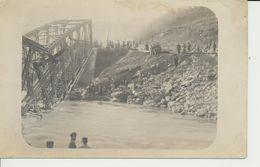 "AK ""zerstörte Brücke"" - Weltkrieg 1914-18"