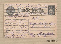 Portugal #21 Inteiro Postal Postal Stationery Circulado Lisboa /Messejana 1925 Ceres 25C - Enteros Postales