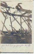 """2 AK """"gesprengte Brücke"""" - Weltkrieg 1914-18"""