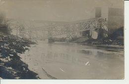 """AK """"zerstörte Brücke"""" - War 1914-18"""