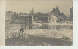 """AK """"reparierte Brücke I. Eis"""" - War 1914-18"""
