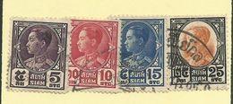 Siam - 1928 5s - 25s (4)  - Sc#209/212 - GU - S.56 - Siam