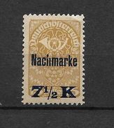 LOTE 1542  ///    AUSTRIA 1922   YVERT Nº: TAXE 101A *MH    ¡¡¡¡¡LIQUIDATION !!!! - Impuestos