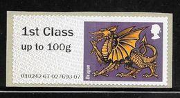 GB Post & Go - Heraldic Beast - Dragon - 1st Class / 100g MNH - Great Britain