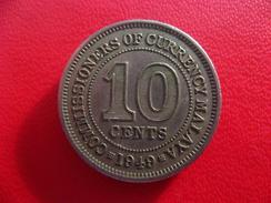 Malaya - 10 Cents 1949 8033 - Malaysia