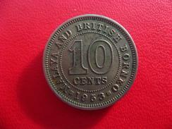 Malaya Et Borneo - 10 Cents 1953 8045 - Malaysia