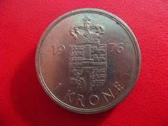 Danemark - 1 Krone Couronne 1976 8052 - Denmark