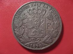 Belgique - Faux D'époque Avec Tranche Reproduite 5 Francs 1870 8077 - 1865-1909: Leopold II