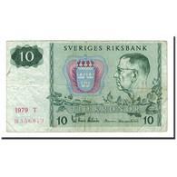Suède, 10 Kronor, 1963-1990, 1979, KM:52d, B+ - Sweden
