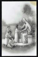 La Vierge Reçoit Des Fleurs Des Enfants - Non Circulé - Not Circulated - Nicht Gelaufen. - Vierge Marie & Madones