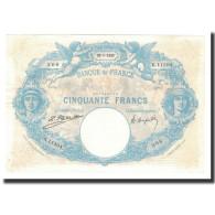 France, 50 Francs, 1925-01-22, KM:64g, TTB+, Fayette:14.38 - 50 F 1889-1927 ''Bleu Et Rose''