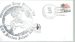 POSTMARKET  USA 1963 - Antarctic Expeditions