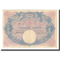 France, 50 Francs, 1914-09-01, KM:64e, TTB, Fayette:14.27 - 50 F 1889-1927 ''Bleu Et Rose''