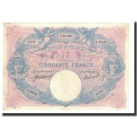 France, 50 Francs, 1915-11-02, KM:64e, TTB, Fayette:14.28 - 50 F 1889-1927 ''Bleu Et Rose''