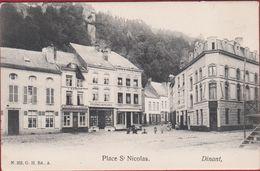 Place St Saint Nicolas Dinant Animee Geanimeerd Rare ZELDZAAM (En Très Bon Etat) - Dinant
