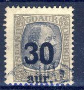 +Iceland 1925. Michel 112. Cancelled. - Usados