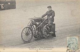 Les Sports, Cyclisme: Nos Entraineurs - Cavé Sur Sa Moto D'entrainement 1906 - Cyclisme