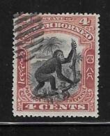 North Borneo 1899-1900 Orangutan 4c Used - Borneo Del Nord (...-1963)