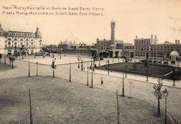 GAND  Place Marie Henriette Et Gare De Gand Saint Pierre - Belgium