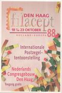 Nederland - Internationale Postzegeltentoonstelling FILACEPT - Jeugddag 22 Oktober 1988 - 's-Gravenhage - Postal History