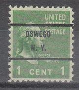 USA Precancel Vorausentwertung Preo, Bureau New York, Oswego 804-71 - United States