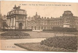 France & Circulated,  Le Cour Du Carrossel Et Le Arc De Triomphe, Paris, Lisboa 1920 (38) - Monuments