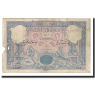 France, 100 Francs, 1908-09-11, KM:65e, B+, Fayette:21.23 - 1871-1952 Antichi Franchi Circolanti Nel XX Secolo