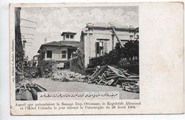 ASPECT QUE PRESENTAIT LA BANQUE IMP OTTOMANE KEGELCLUB ALLEMAND HOTEL COLOMBO LE JOUR SUIVANT CATASTROPHE 29 AVRIL 1903 - Greece
