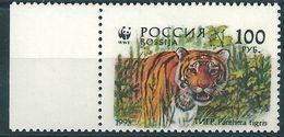 B0410 Russia Rossija 1993 Fauna Tigers 100 Rubel ERROR Mirror Print (1 Stamp) - 1992-.... Federación