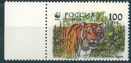 B0410 Russia Rossija 1993 Fauna Tigers 100 Rubel ERROR Mirror Print (1 Stamp) - Errors & Oddities