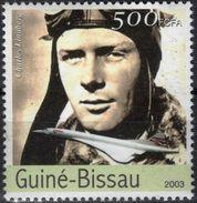 GUINEE-BISSAU 1548 ** MNH Charles LINDBERGH Concorde Plane Traversée Atlantique - Airplanes