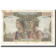 France, 5000 Francs, 1956-12-6, KM:131c, TTB, Fayette:48.12 - 1871-1952 Gedurende De XXste In Omloop